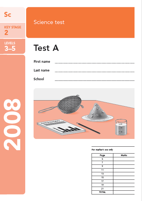 Past sats science papers ks2